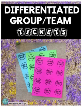 DIFFERENTIATED GROUPING CARDS *An easy & fast way to sort students into groups!*