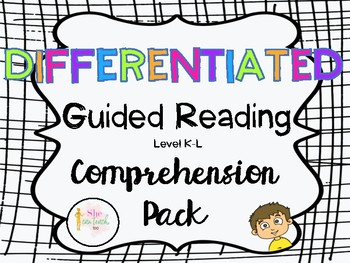 DIFFERENTIATED Guided Reading Comprehension Pack