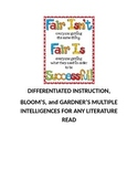 DIFFERENTIATED INSTRUCTION,  BLOOM'S, & GARDNER'S MULTIPLE INTELLIGENCES