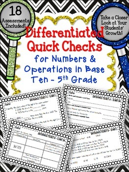 DIFFERENTIATED MATH QUICK CHECKS Numbers & Operations in B