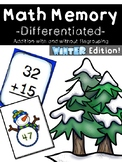DIFFERENTIATED MATH MEMORY (Addition)-Winter Edition!