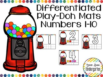 DIFFERENTIATED Math Play-doh Mats - Numbers 1-10