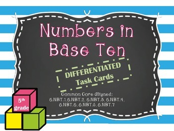MATH TEST PREP: Numbers in Base Ten Review Task Cards {Milestones}