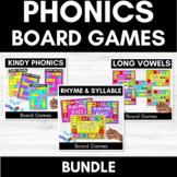 DIFFERENTIATED PHONICS BOARD GAMES   Print and Go   Printables