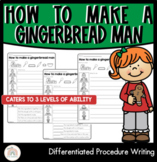 How to make a gingerbread man   Differentiated Procedure Writing Worksheets