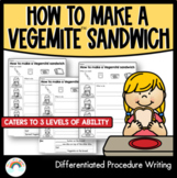 How to make a Vegemite sandwich   Differentiated Procedure Writing