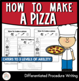 How to make a pizza   Differentiated Procedure Writing