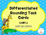 DIFFERENTIATED Rounding Task Cards with QR Codes | Print & Go