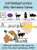 DIFFERENTIATED SILLY SENTENCE HANDWRITING GAME! k12345