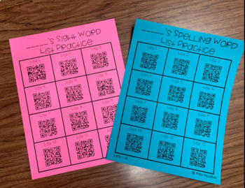 DIFFERENTIATED Sight Word/Spelling Word Program K-2 WITH LINKS TO Practice Video