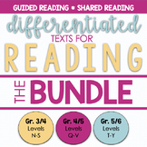 DIFFERENTIATED Texts for Reading - Bundle - Reading Levels
