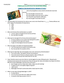 DIFFERENTIATED Video Guide: Creating the Constitution; Constitutional Convention