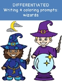 DIFFERENTIATED WIZARD writing & drawing prompts! OT SPED k123