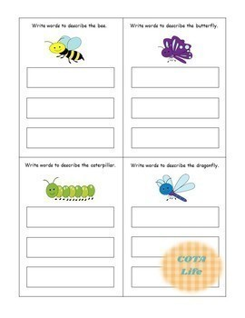 DIFFERENTIATED Write It! Insects & Bugs Write-A-Word Handwriting Practice Cards