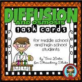 DIFFUSION and OSMOSIS Task Cards for Middle and High School Biology Life Science