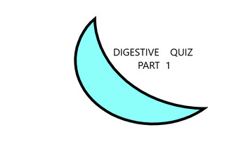DIGESTIVE  QUIZ  WORKSHEET  - PART 1 - 10 QUESTIONS & ANSWERS