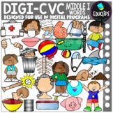 DIGI CVC Short I Words - Movable Images Clip Art Set {Educlips Clipart}