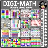 DIGI Math - Movable Images Clip Art Mega Bundle {Educlips Clipart}