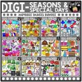 DIGI Seasons & Special Days  - Movable Images Clip Art Meg