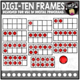DIGI Ten Frames - Movable Images Clip Art Set {Educlips Clipart}