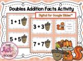 DIGITAL 1st Grade Doubles Addition Facts for Google Slides