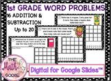 DIGITAL 1st Grade Word Problems Up to 20 for Google Slides™ 1.3F