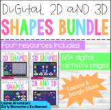 2D & 3D Shapes Bundle; SEESAW & GOOGLE SLIDES