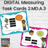DIGITAL 2nd Grade Measuring Task Cards 2.MD.A.3