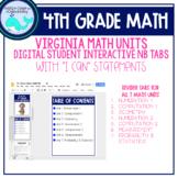 DIGITAL 4th Grade Math Notebook Learning Target Tabs (VA)