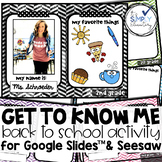 DIGITAL ALL ABOUT ME for Google Slides™ or Seesaw