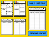 DIGITAL AND PRINTABLE: Back to School Forms - Polka Dot, Stripes, and Books