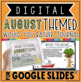 """DIGITAL AUGUST THEMED """"Would You Rather..."""" JOURNAL IN GOOGLE SLIDES™"""
