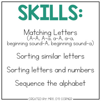 DIGITAL Adapted Work Binder ( Alphabet )