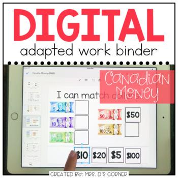 DIGITAL Adapted Work Binder ( Canada Money )
