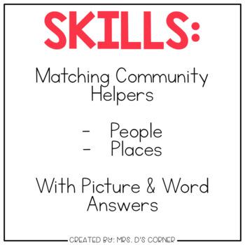 DIGITAL Adapted Work Binder ( Community Helpers )