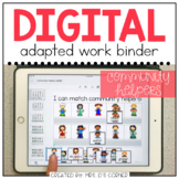 DIGITAL Adapted Work Binder ( Community Helpers ) | Distan
