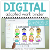 DIGITAL Adapted Work Binder ( Emotions - Feelings ) | Dist