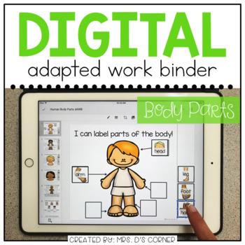 DIGITAL Adapted Work Binder ( Human Body Parts )