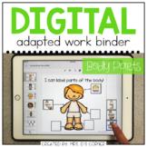 DIGITAL Adapted Work Binder ( Human Body Parts ) | Distanc