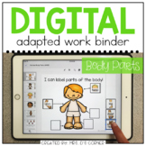 DIGITAL Adapted Work Binder ( Human Body Parts ) | Distanc
