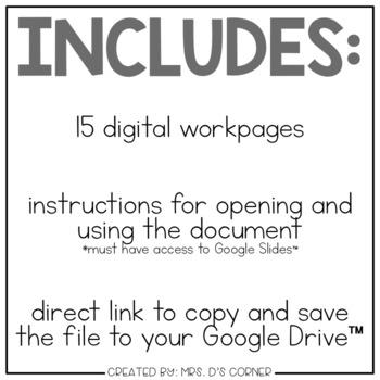 DIGITAL Adapted Work Binder ( Making Sentences )