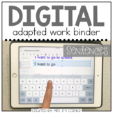 DIGITAL Adapted Work Binder ( Making Sentences ) | Distanc