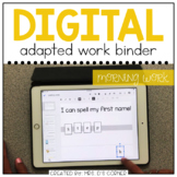 DIGITAL Adapted Work Binder ( Morning Calendar )