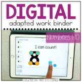 DIGITAL Adapted Work Binder ( Numbers 1-10 ) | Distance Learning