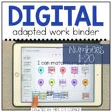 DIGITAL Adapted Work Binder ( Numbers 11-20 )