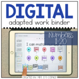 DIGITAL Adapted Work Binder ( Numbers 11-20 ) | Distance Learning