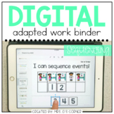 DIGITAL Adapted Work Binder ( Sequencing ) | Distance Learning