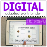 DIGITAL Adapted Work Binder ( UK British Currency )