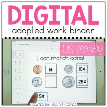 DIGITAL Adapted Work Binder ( US Money )