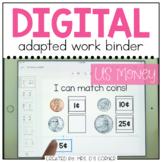 DIGITAL Adapted Work Binder ( US Money ) | Distance Learning